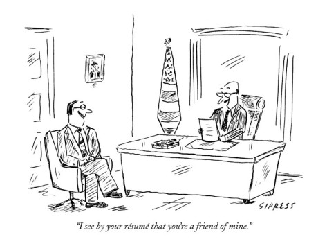 david-sipress-i-see-by-your-resume-that-you-re-a-friend-of-mine-new-yorker-cartoon