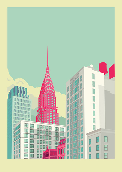 Park-Avenue-New-York-City-Illustration-by-Remko-Heemskerk