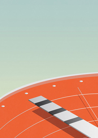 Race-against-time-Minimalist-Illustration-by-Ray-Oranges